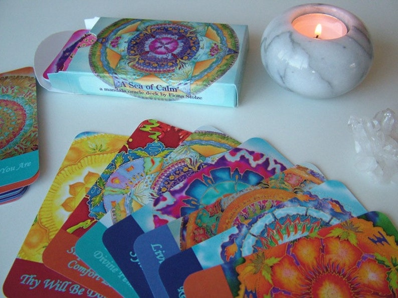 Mandala Oracle Deck ' A Sea of Calm ' by Fiona Stolze image 0