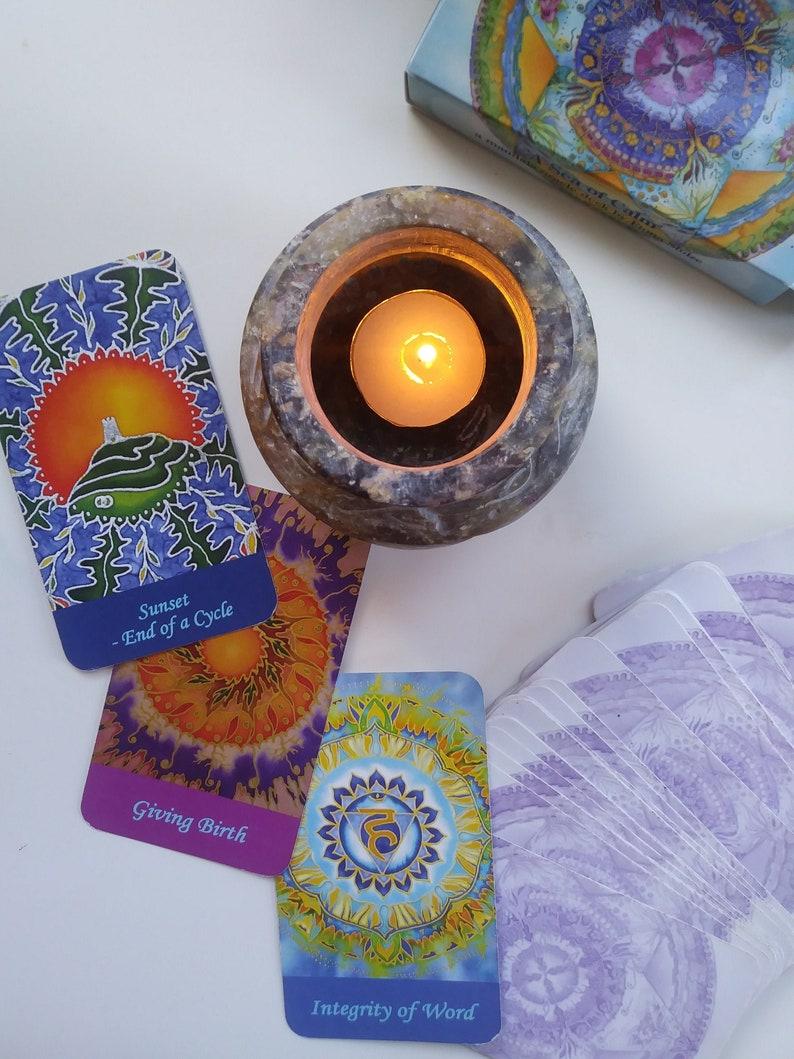 Mandala Oracle Deck ' A Sea of Calm ' Spiritual image 1