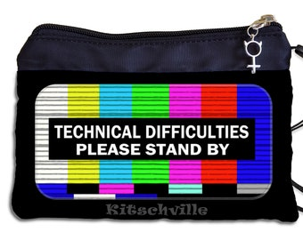 Funny Tampon Case, Techie Period Bag, Funny IT Tampon Pouch, Technical Difficulties, Gag Gift for Her, Funny Gift for Women,