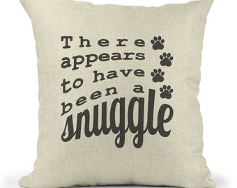 Funny Dog Lover Pillow Cover, Cute Cat Lover Throw Pillow Case, Gift for Animal Lover, Pet Adoption Gift, Dog and Cat Home Decor