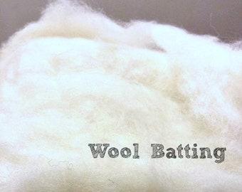 1/2 pound of wool batting stuffing