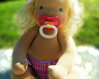PDF Pattern - Jointed Waldorf Pacifier Baby Doll