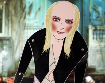 Riff Raff The Rocky horror picture show Richard O'Brien tribute fan art paper doll assembled articulated posable