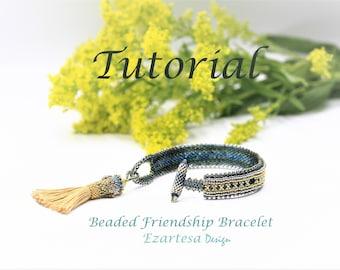 Beaded Friendship Tassel Bracelet Tutorial, Pattern by Ezartesa