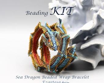 Sea Dragon Beaded Wrap Bracelet Beading Kit by Ezartesa