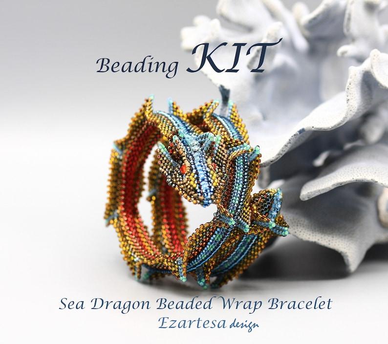 Butterfly Wrap Bracelet Beading Kit by Ezartesa