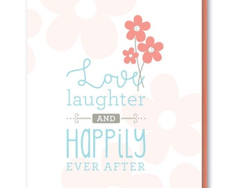 Wedding Card - Blank Greeting Card - Happily Ever After