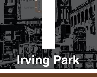 CTA L Stop Sign: Irving Park (Brown Line)