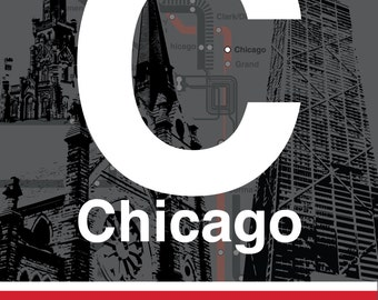 CTA L Stop Sign: Chicago (Red Line)