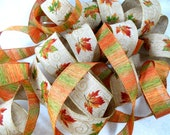 NEW Fall Ribbon Duet-Two Coordinating Wire Edge Decorating Ribbons, Thanksgiving, Autumn, Rustic, Woodland