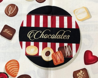 Forever Yours from Henry Glass - Full or Half Yard of Chocolate Candy Images