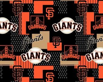Giants Major League Baseball from Fabric Traditions - Half Yard Orange and  Black Giants Baseball Fabric - 58-60 wide aadd6feaa