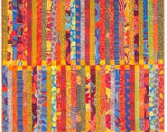 """Pattern Deck Chair from Aardvark Quilts - Scrappy quilt 49.5"""" x 68"""""""
