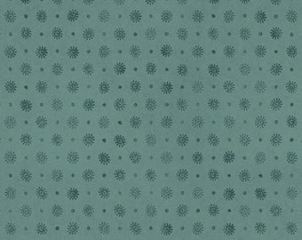 Teal Dot Blender - Curiosity by Santoro for Quilting Treasures - Full or Half Yard Set Dot Teal