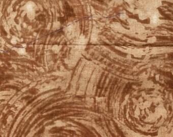 Mosaic by Marcia Derse for Windham Fabrics - Half Yard Chocolate Swirl Modern Quilt Fabric