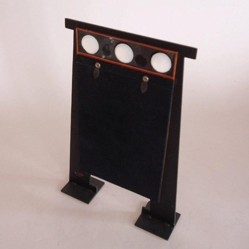 jewels insert laser cut steel picture frame black finish