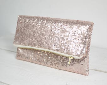 Rose Gold sequin purse reserved for kshields1208