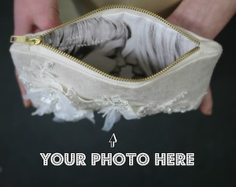 Ivory Bridal Purse | Ivory Bridal Clutch | Ivory Wedding Handbag | Ivory Bridal Handbag