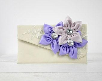 Wedding purse, bridesmaid clutch purse, ANY COLOR you need