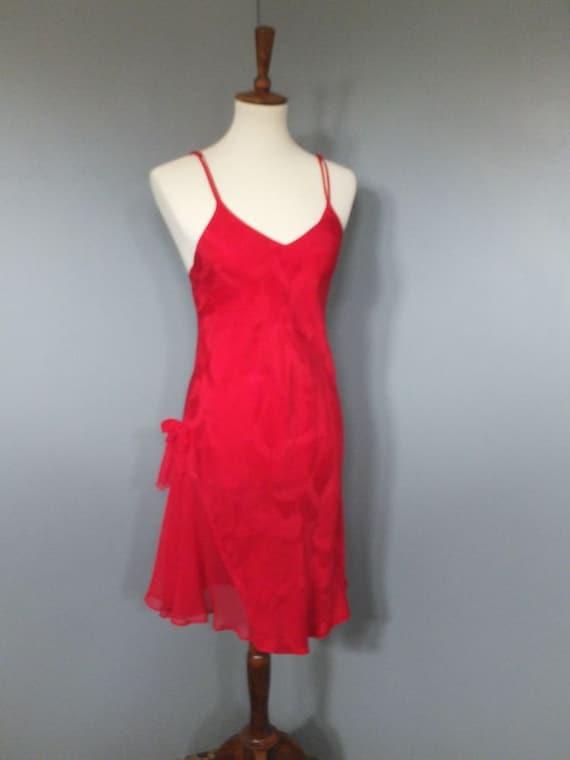 1980s Gold Tag Victoria/'s Secret Red Nightie Size Small