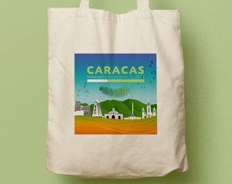 JOANNA Caracas Venezuela Custom Canvas Tote, Wedding Bag, Welcome Gift, Tote Bag, Beach Tote, Wedding Favor, Guest Gift, Swag Bag, Favor Bag