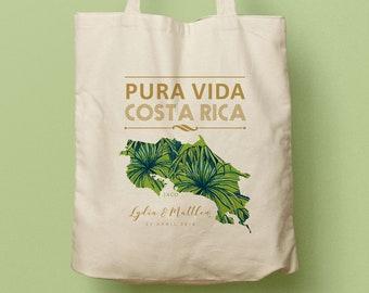 LYDIA Canvas Totes, Pura Vida Costa Rica Custom Wedding Gift Bag, Swag Bag, Wedding Favor, Welcome Gift, Thank you Gift, Bridesmaid Gift