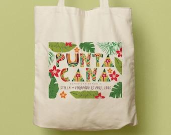 Punta Cana, Dominican Republic, Custom Tote, Guest Welcome Bag, Bridesmaid Gift, Bachelorette Tote, Destination Wedding Favor, Souvenir