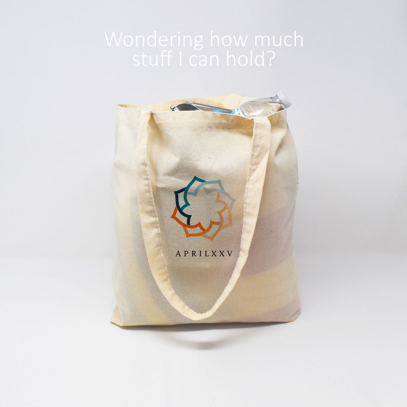 Wedding Favor Georgia Custom Canvas Tote Bag Beach Tote Guest Gift Bridesmaid Gift Green Orchid St Simons Island Welcome Gift