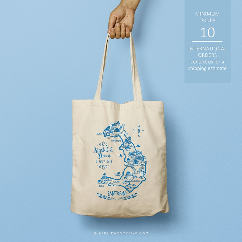 Santorini Greece Custom Totes Bridesmaid Gift Custom Tote Bag Just the totes