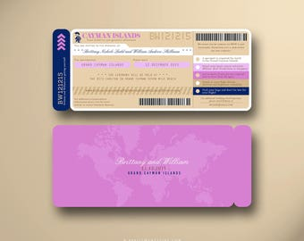 THERESA Boarding Pass, Wedding Invitation Suite, Plane Ticket, Airline Ticket, Travel Inspired, Ticket Holder, Invitation Card