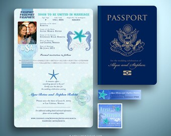 ALYSE Passport Style Save the Date Card