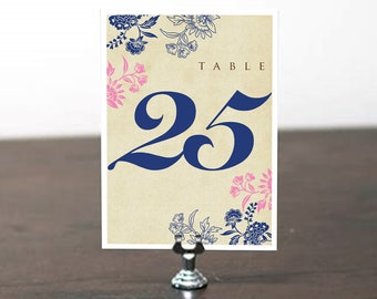 Table Number, Table Cards, Table Signs, Wedding Stationery, Wedding Invitation Suite, Mexican Fiesta, Indian Wedding, Henna Inspired