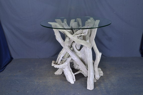 Surprising White Round Driftwood Entry Table Uwap Interior Chair Design Uwaporg