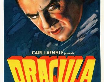 Dracula reproduction A3 movie poster print (Bela Lugosi, 1931)