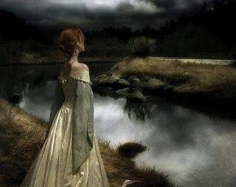 Edward Robert Hughes - Whispers on the Wind - 10x7 inch print - Pre-Raphaelite
