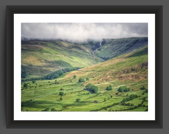 View from Mam Tor, Peak District, Derbyshire - 10x7 inch photographic print