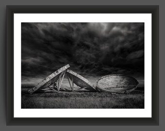 RAF Steingot abandoned cold war radar station, England, 10x7 inch photographic print
