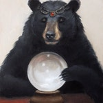 Gypsy Bear. Signed Print of an Original Oil Painting