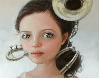 Virtuoso. Signed Art Print of an Original Surreal Oil Painting