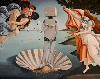 Robot-ticelli - Original Oil Painting-24x36 inches