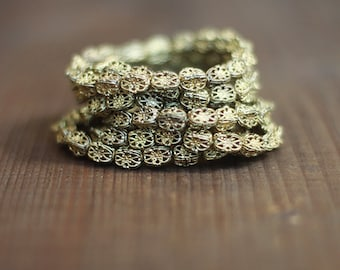 Vintage Brass Filigree Beads