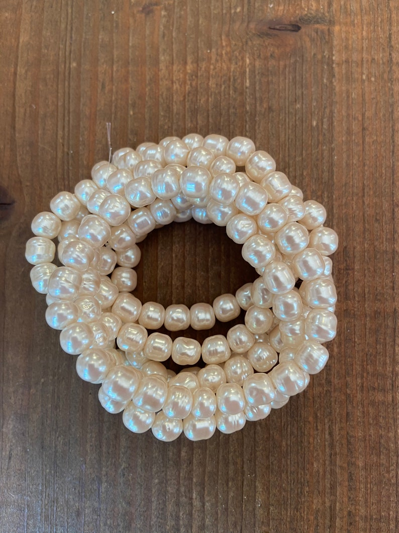 8mm Japanese Baroque Pearls in Original Haskell Tint