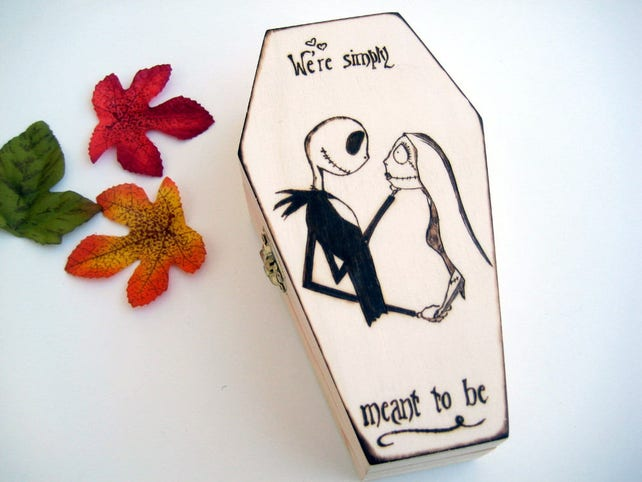 Coffin Ring Box Nightmare Before Christmas Jack And Sally