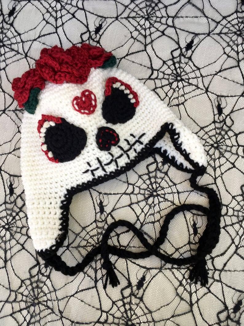 Sugar Skull uncinetto cappello giorno dei morti Dia De Los  21999893137c
