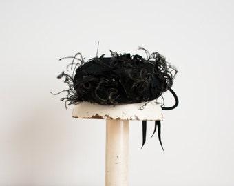 ON SALE - Vintage 1940s Hat - 40s Tilt Hat - The Mae