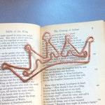 Copper crown bookmark