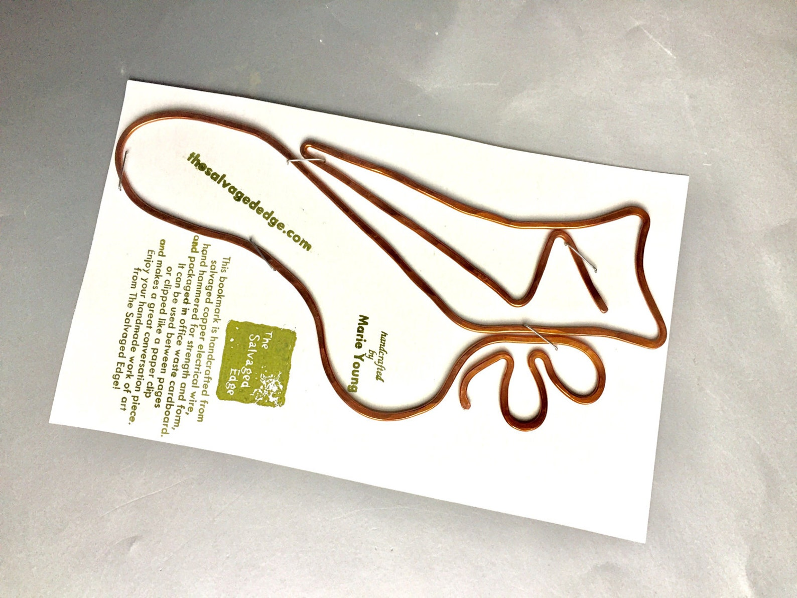 ballet shoe bookmark dancer shoe copper bookmark