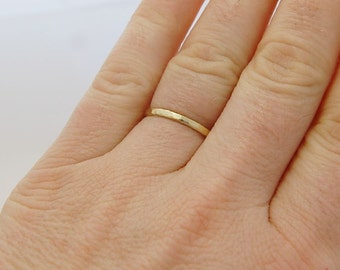 simple minimal brass ring hammered  and adjustable gold ring