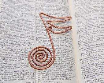 Sixteenth note bookmark copper bookmark
