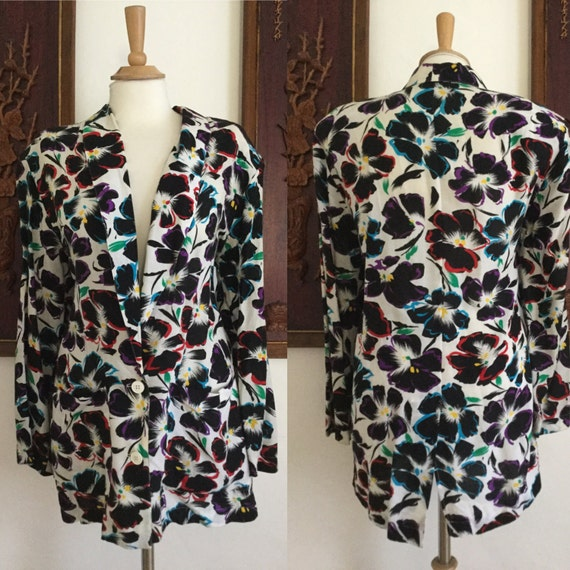 Vintage 80s / Forenza / Bold / Floral / Bright Col
